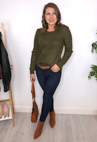 Cassidy Knitted Jumper - Khaki