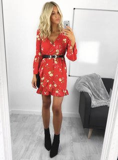 Daisie Floral Wrap Dress