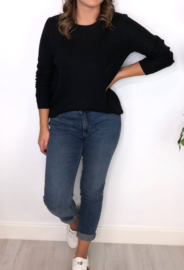 Caroline Knitted Jumper - Black