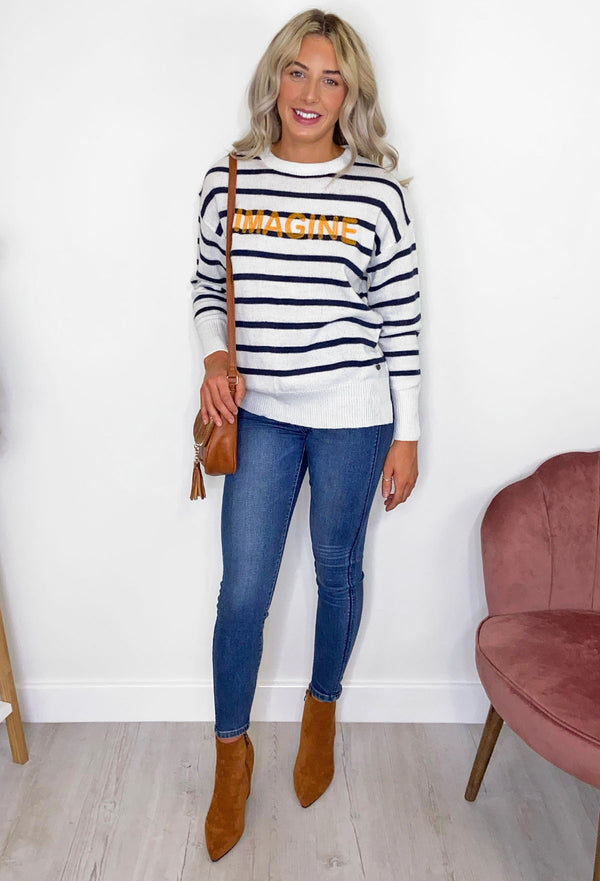 Blend She Imagine Striped Jumper