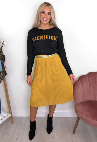 Nümph Misty Pleated Midi Skirt