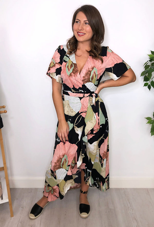 Amber Floral Wrap Dress