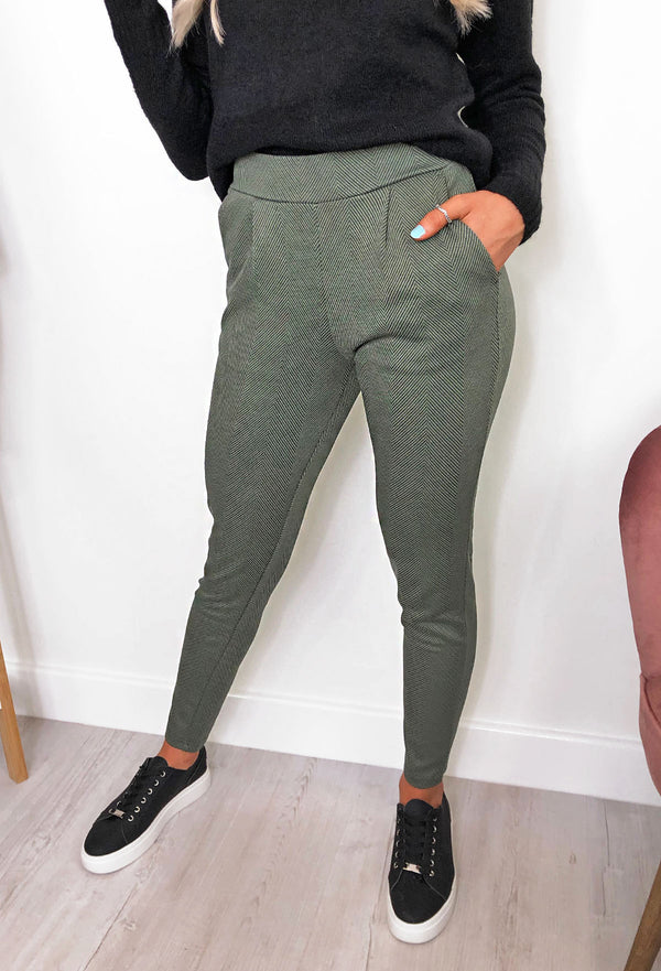 Ichi Kate Herringbone Trousers