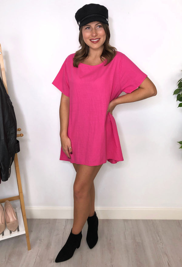 Becky Oversized Tunic - Hot Pink
