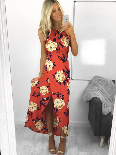 Luna Floral Wrap Maxi Dress