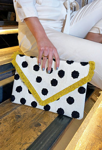 Dotty Spot Clutch Bag