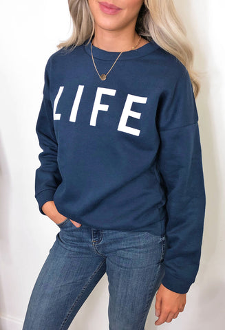 Blend She Life Blue Sweatshirt