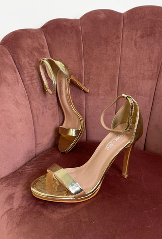 Carla Barely There Heels - Gold