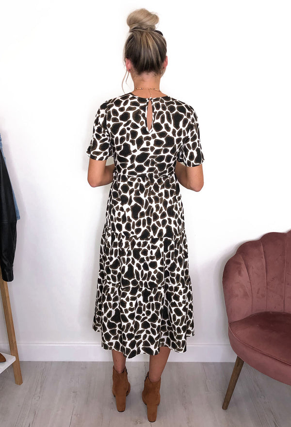 Lou Animal Print Midi Dress