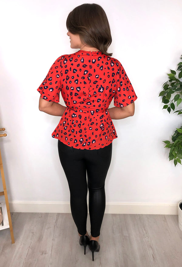Jules Leopard Print Tea Top