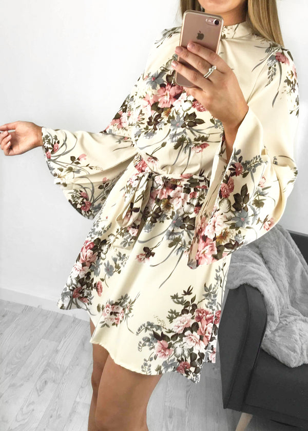 Thea Floral Skater Dress