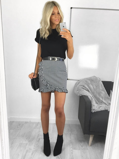 Jade Gingham Skirt