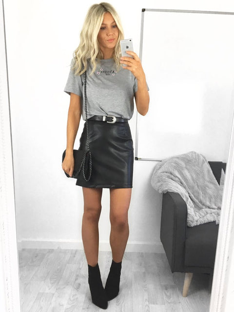 Kirsten Faux Leather Mini Skirt