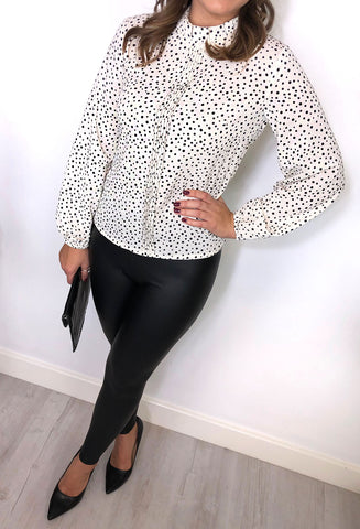 Perrie Spot Blouse - Cream