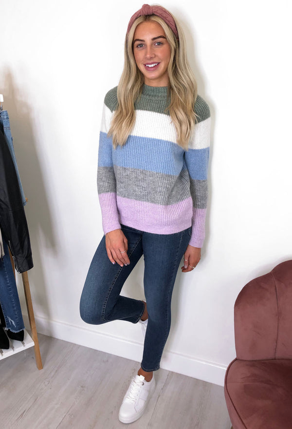 ONLY Jade Striped Pullover - Orchid Bloom