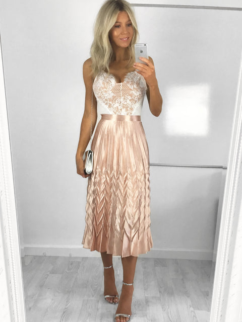 Bonnie Metallic Pleat Skirt