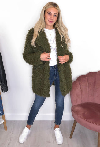 Theadore Faux Fur Coat - Green
