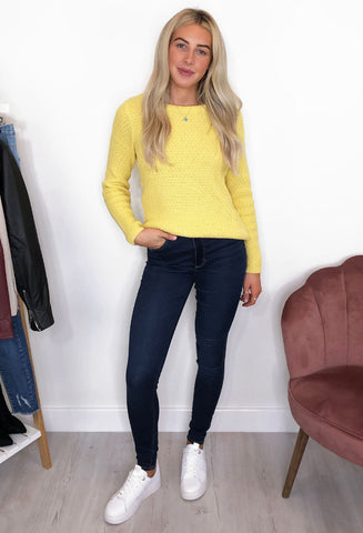 Karna Knitted Jumper - Yellow