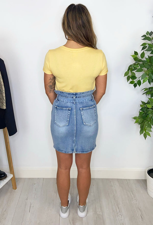 Bailey Paperbag Skirt - Denim