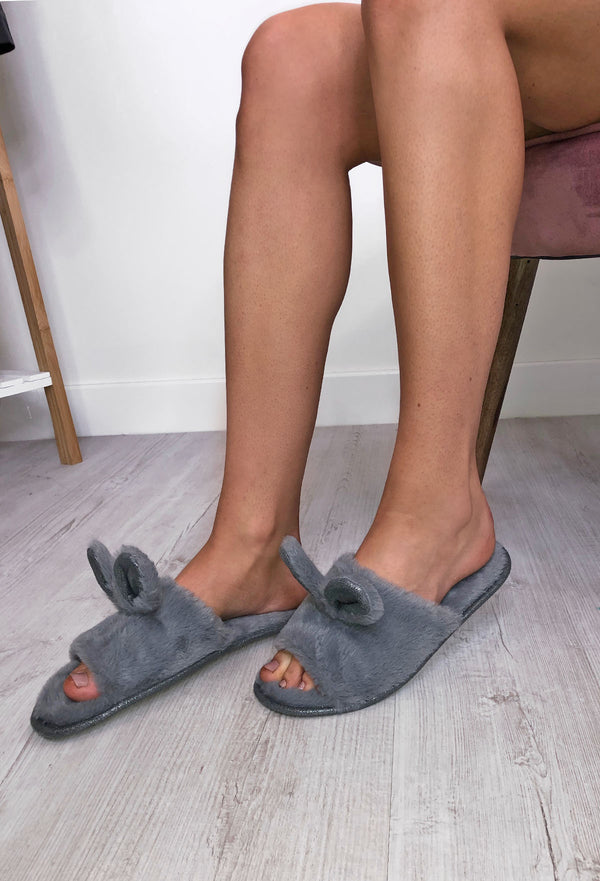 Bunny Ear Fluffy Sandals