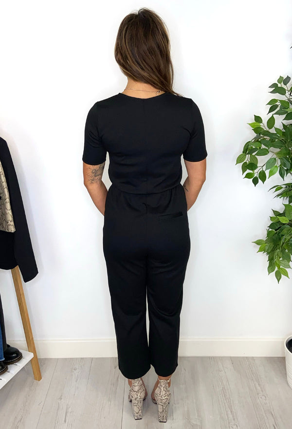 Oti Wrap Jumpsuit - Black