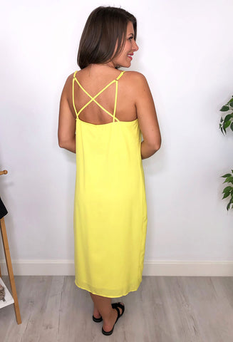 Meadow Button Down Cami dress - Yellow