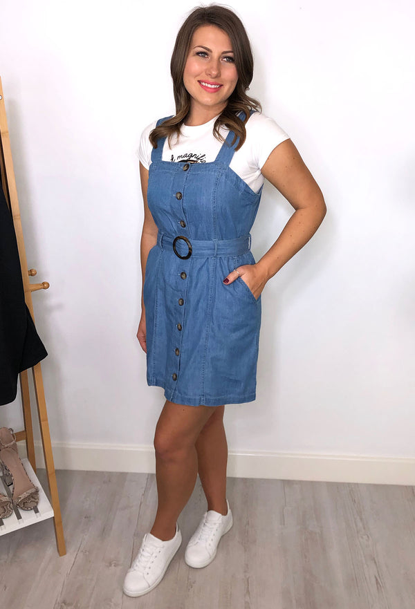 Dubai Chambray Button Through Dress
