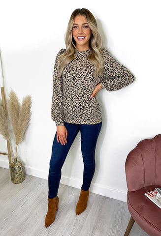 b.young Silina Leopard Blouse