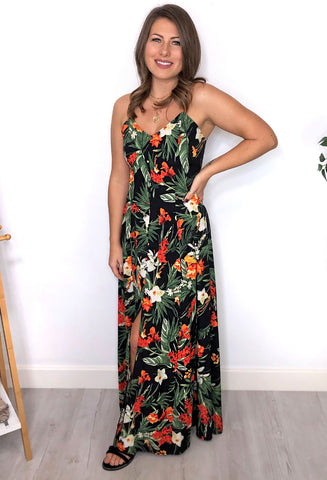 Melissa Floral Split Maxi Dress