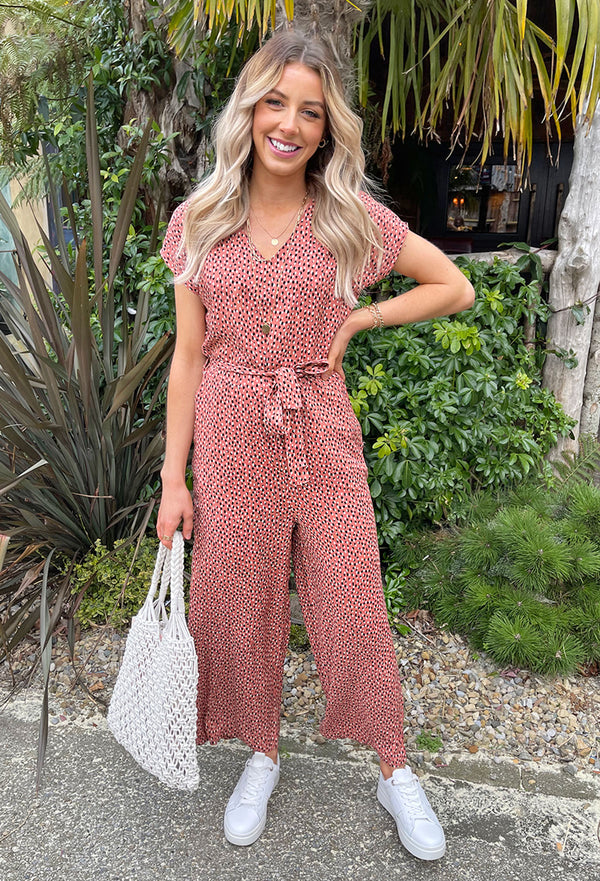 B.young Joella Jumpsuit - Red Mix