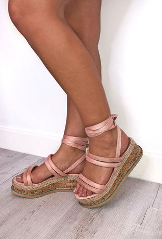 Rose Chunky Blush Sandal