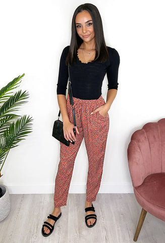 B. young Joella Trousers - Red Mix