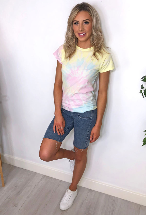 Ellen Tie Dye T-shirt - Yellow and Pink