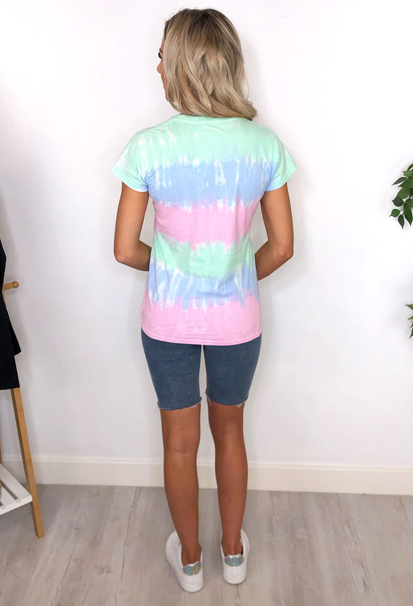 Jaime Tie Dye T-shirt - Green and Blue