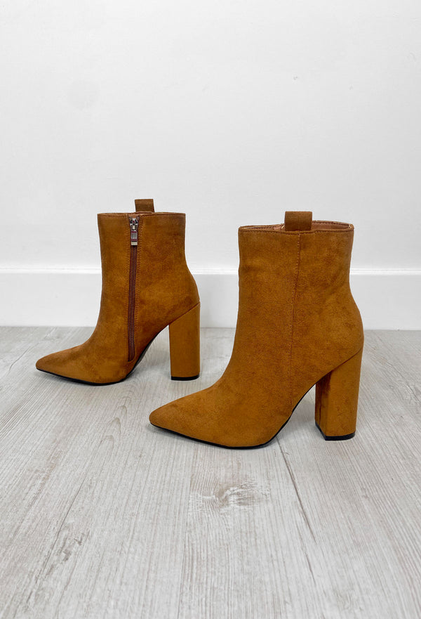 Heather Tan Heeled Boots
