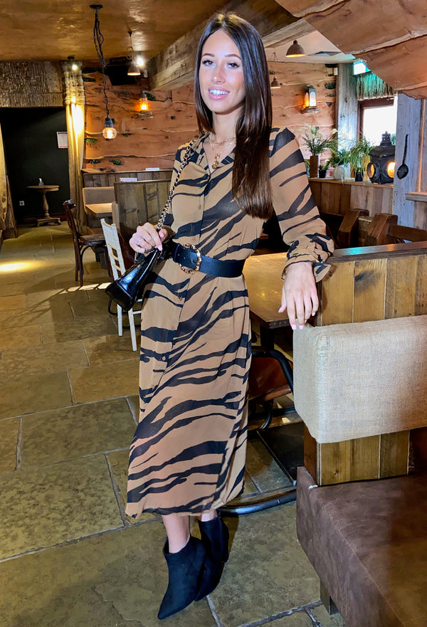 Ichi Bikka Sustainable Midi Shirt Dress