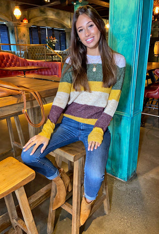 ONLY Susie Striped Pullover