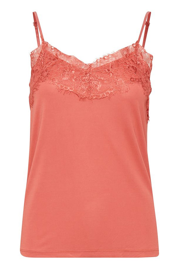 Ichi Louise Lace Cami - Faded Rose