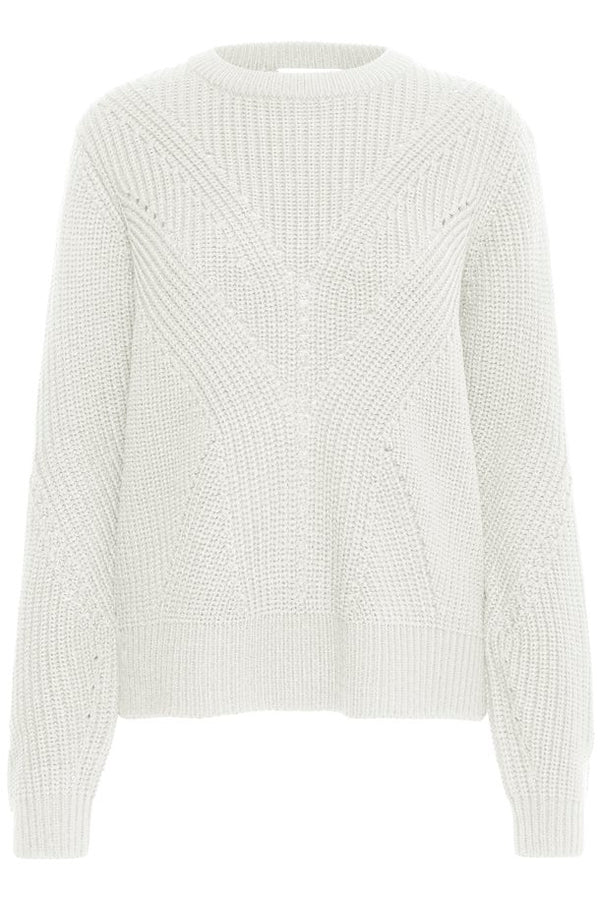b.young Melissa Chunky Knit Jumper - Off White