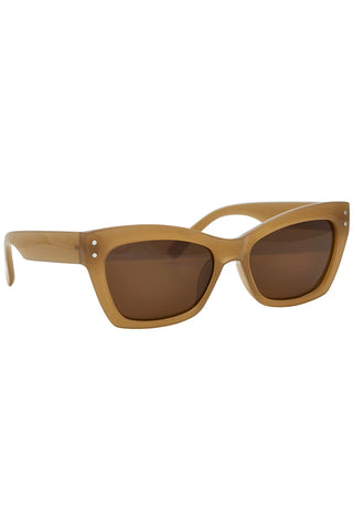 Nümph Square Cateye Brown Sunglasses
