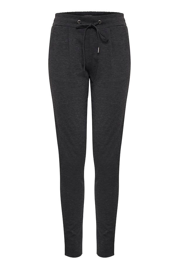 "Ichi Paige Slim Leg Trousers 32"" - Dark Grey"