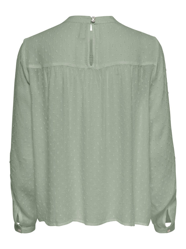ONLY Pelia Dot Blouse - Green