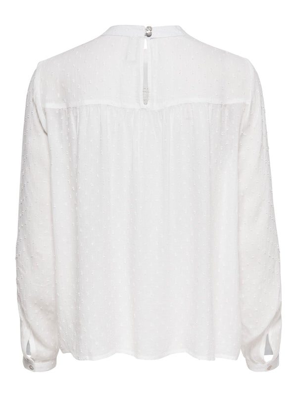 ONLY Pelia Dot Blouse - Off White