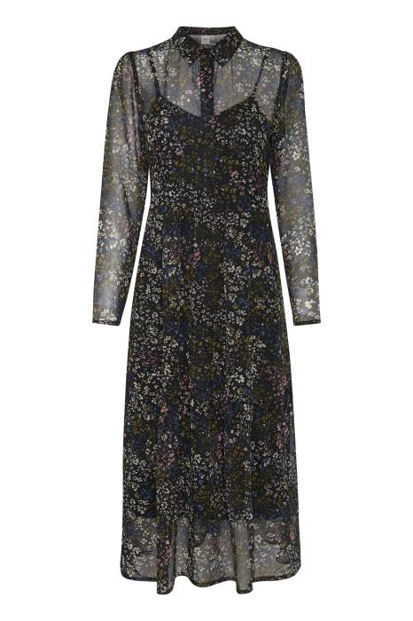 Ichi Betty Long Sleeved Midi Dress