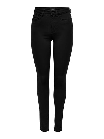 ONLY Royal High Waisted Skinny Jeans Black - 34""
