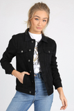 Frankie Black Wash Denim Jacket