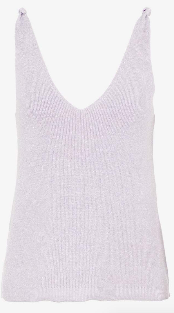 Ichi Ava Knitted Knot Cami - Orchid Petal