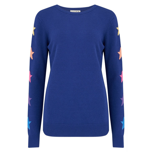 Sugarhill Brighton - Stacey Star Sleeve Jumper- Cobalt Blue