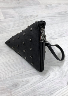 Triangle Stud Bag - Black