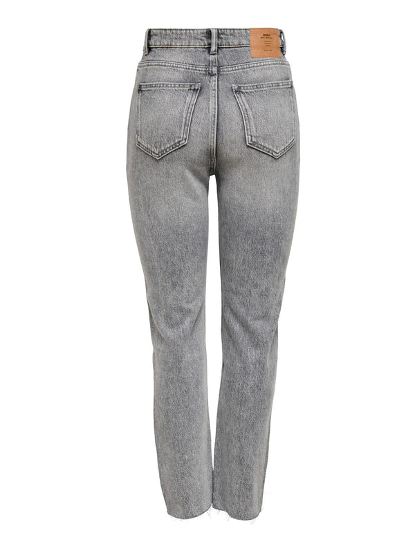 ONLY Emily Straight Leg Jeans - Grey Denim